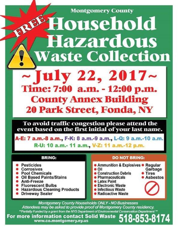 Hazardous Waste Collection 2017